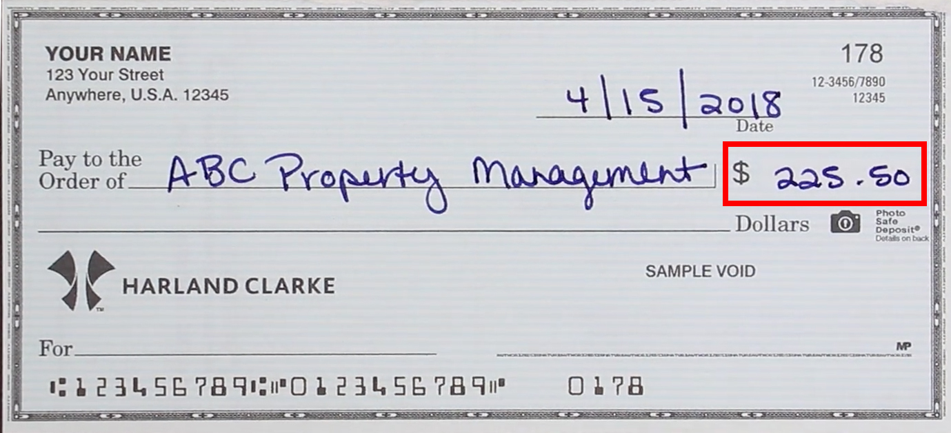 How to write the dollar amount on a check
